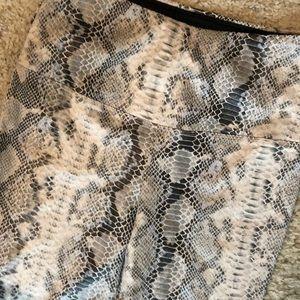 Athena Marie Snake print tummy control leggings